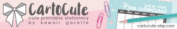Cute printable stationery by Kawaii Gazette