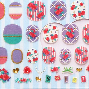 Flower nail stickers
