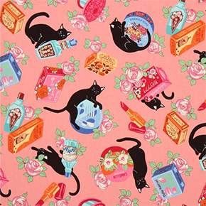 Beauty cat fabric