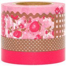 Red & Brown washi tape set at Modes4U