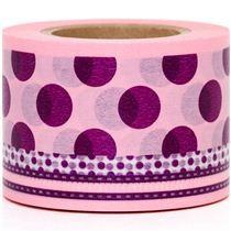 Liliac polka dots washi tape at Modes4U